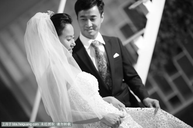 黑白经典婚纱照欣赏--无锡ido婚纱摄影