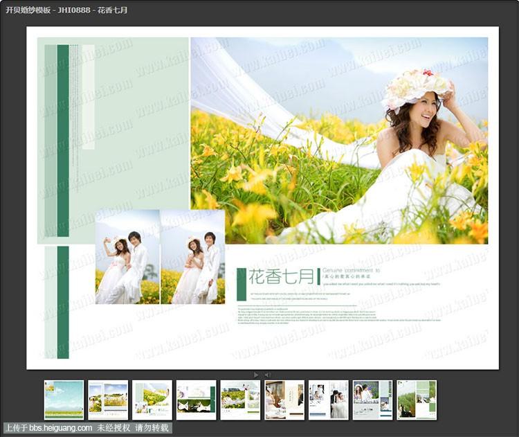 2013年12月9日发布:婚纱模板下载(20套/192p)_开贝影