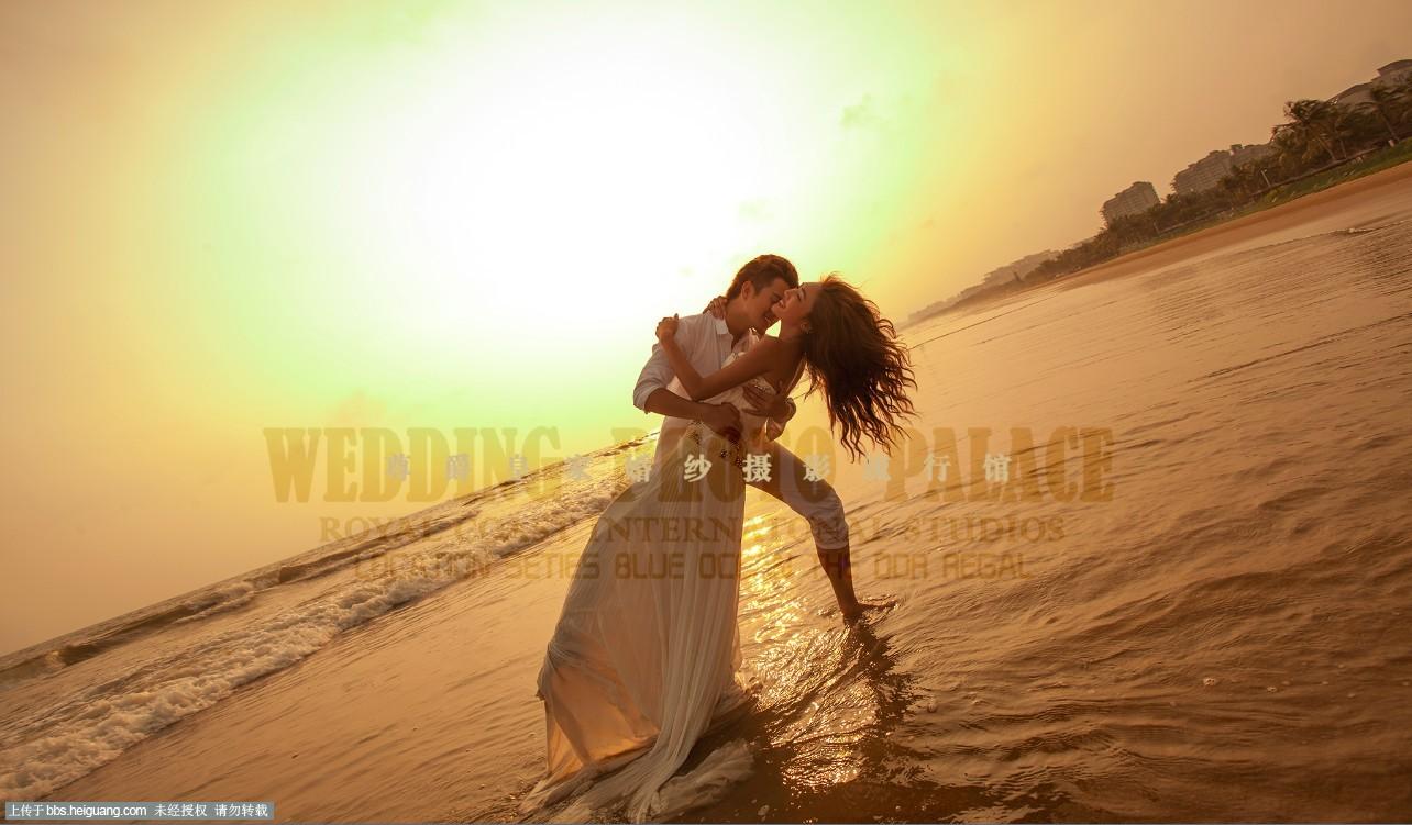 暮光海岸》暮光下的海景婚纱照【三亚凤凰岛拍摄基地】