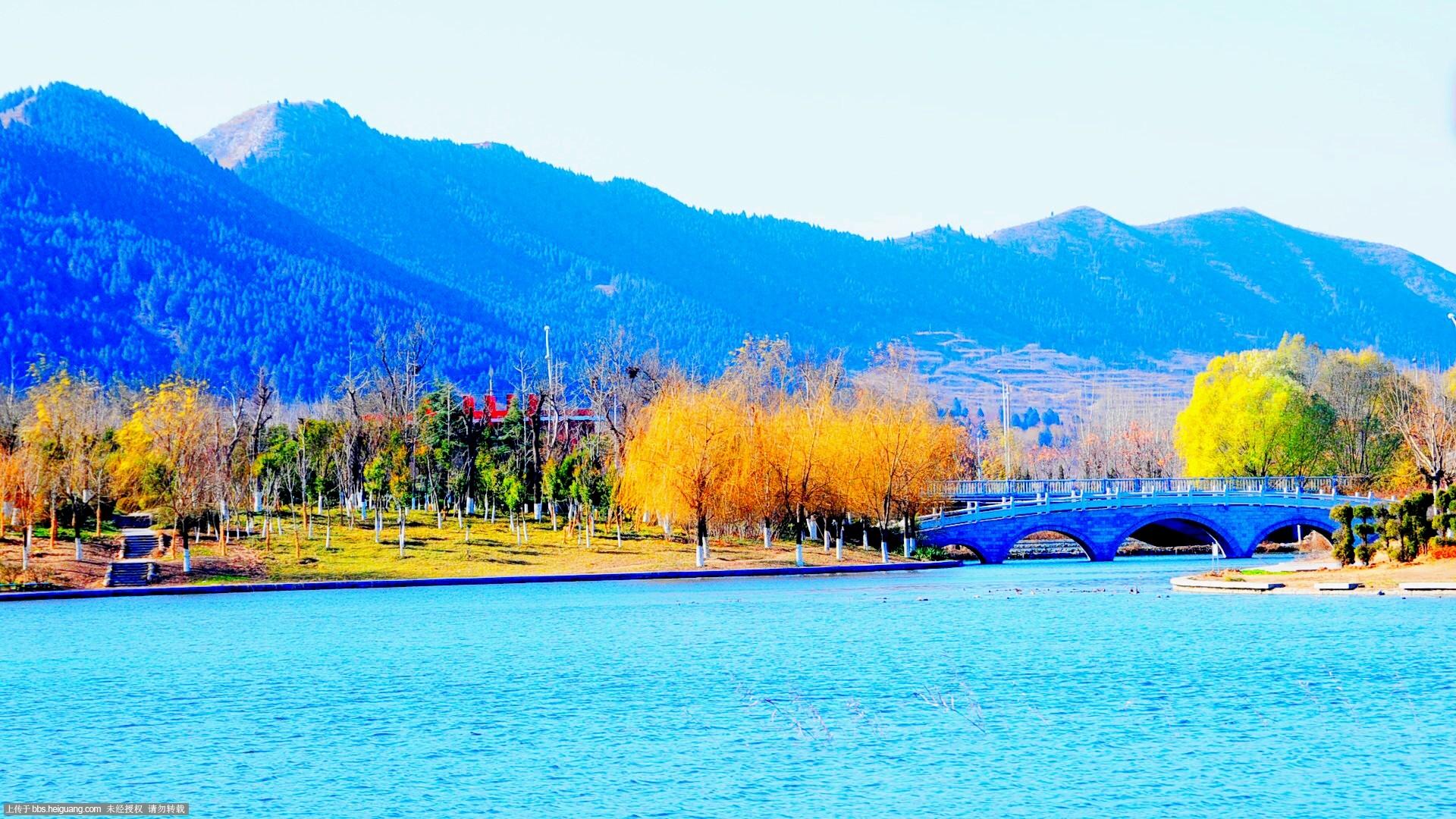 湖的画法简笔画