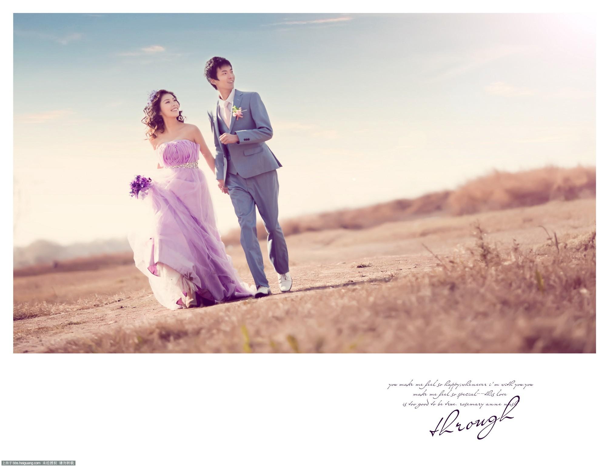 洛阳蒙娜丽莎婚纱摄影--夕阳中的婚纱照