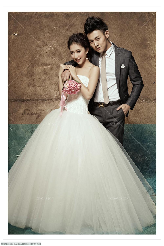 北京婚纱摄影cd视觉——经典韩式单色背景婚纱照欣赏