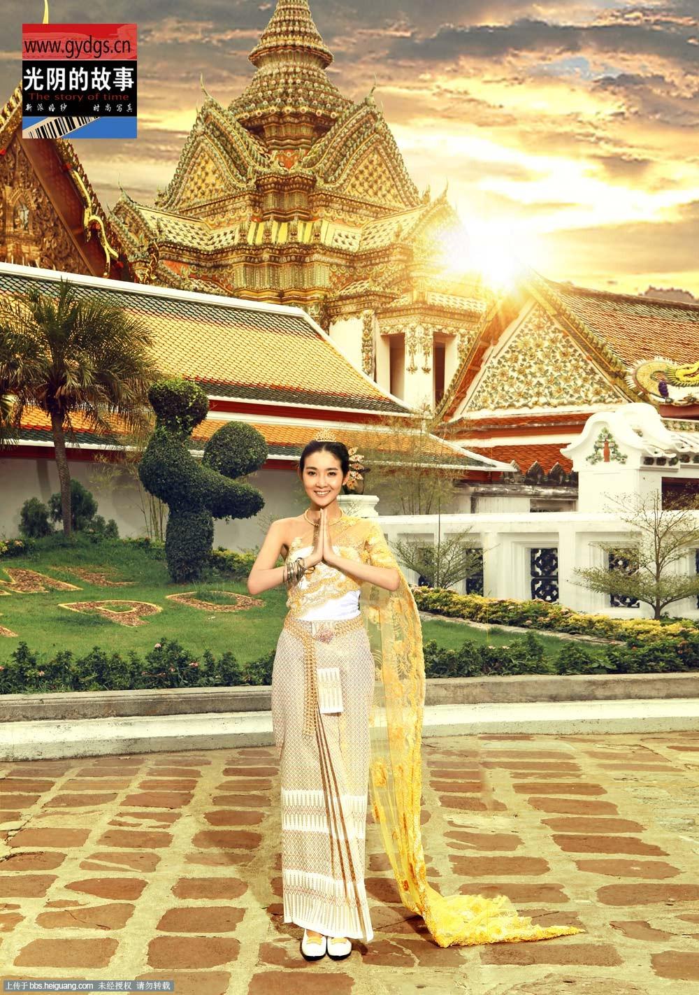昆山光阴的故事 泰国传统服饰婚纱照