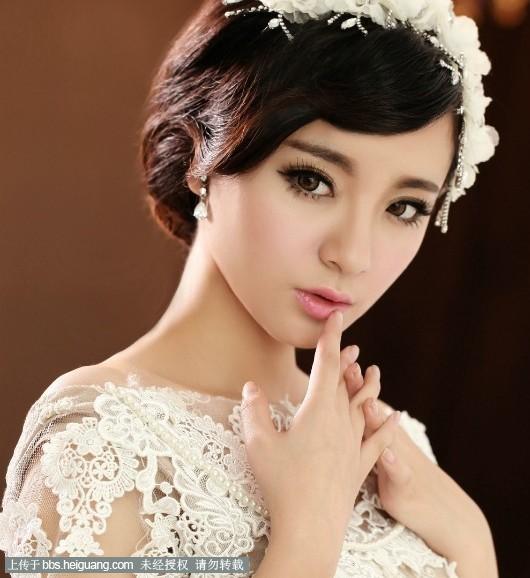短发新娘也可以很美