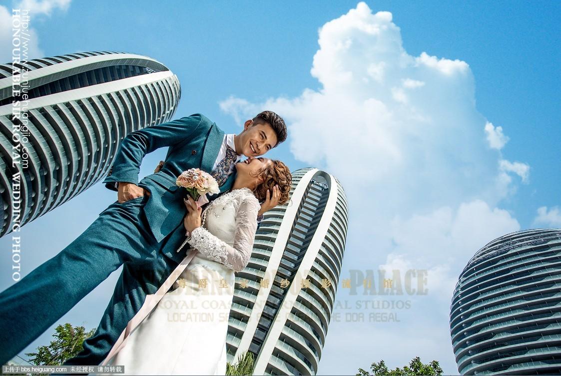 三亚最美地标》三亚凤凰岛海景婚纱照拍摄中.