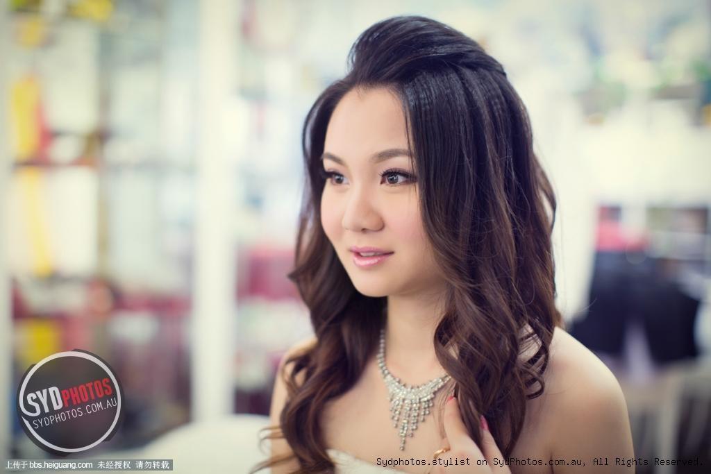 泰剧路边的新娘卷发发型分享展示