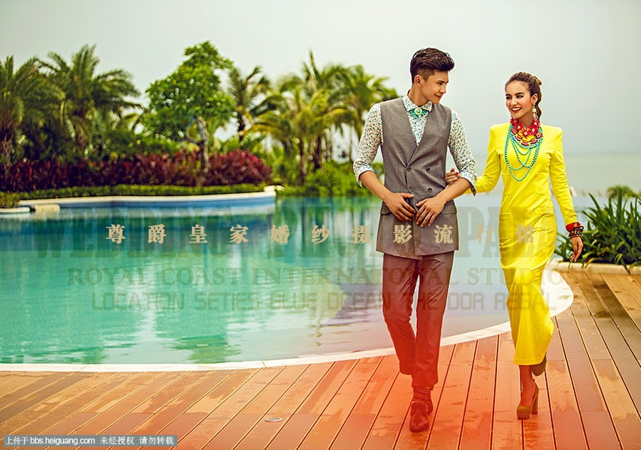迷迭香【尊爵皇家】海边外景婚纱照三亚凤凰岛拍摄