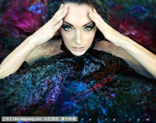 妆造型   摄影作品.奢华的女性与炫目的光,让整个画面看上去