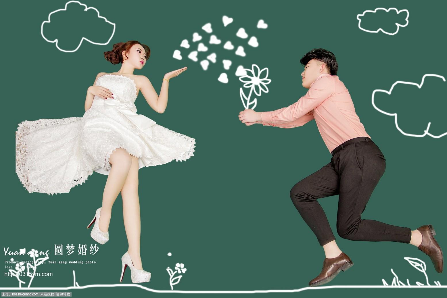 阿沐修图——涂鸦婚纱照