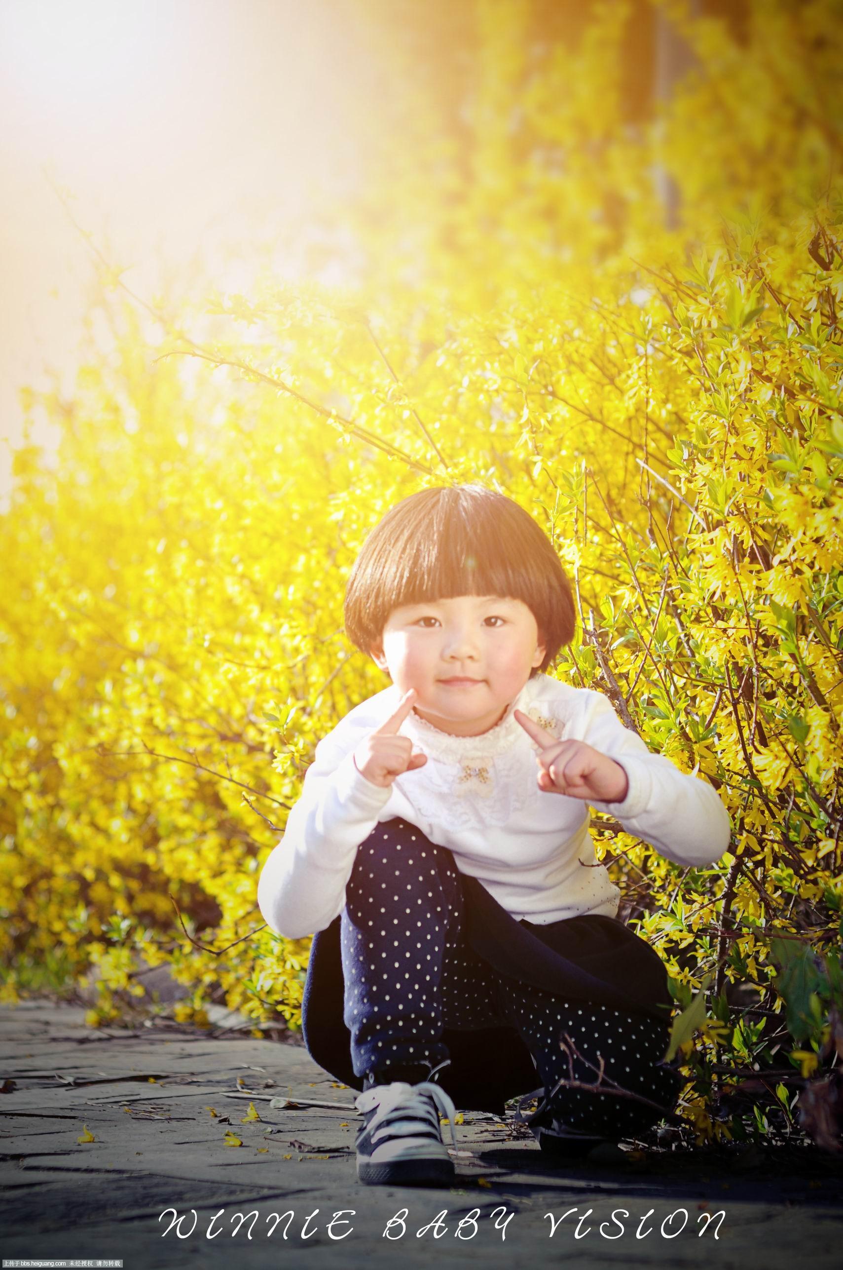 春天的阳光_儿童摄影作品_黑光论坛