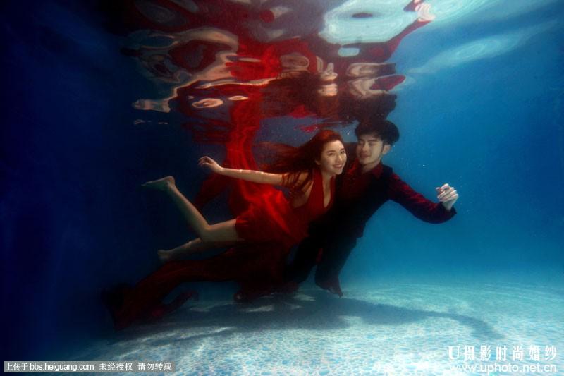 u摄影水下婚纱样片《壹》