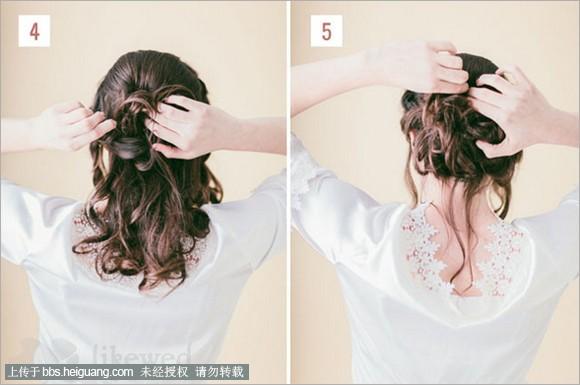 2014户外时髦新娘发型教程步骤详解