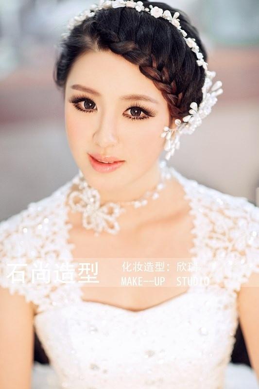 新娘妆造型-新娘化妆造型欣赏 突显新娘独特的美图片