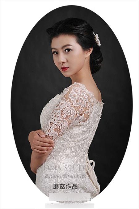 红唇妆新娘造型欣赏 冷艳高贵惹人羡