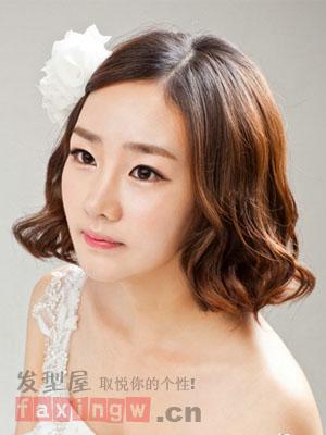 短发新娘发型 变身美丽女主角