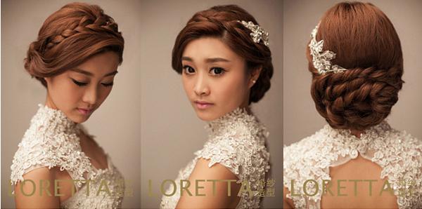 五款不同风格的新娘发型