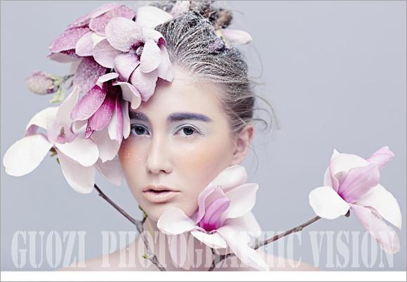 时尚彩妆造型欣赏 尽显鲜花魅力图片