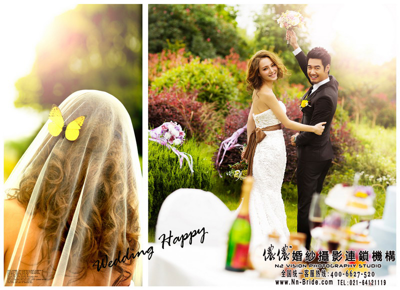 新娘旗袍妆的具体步骤北海海景婚纱照