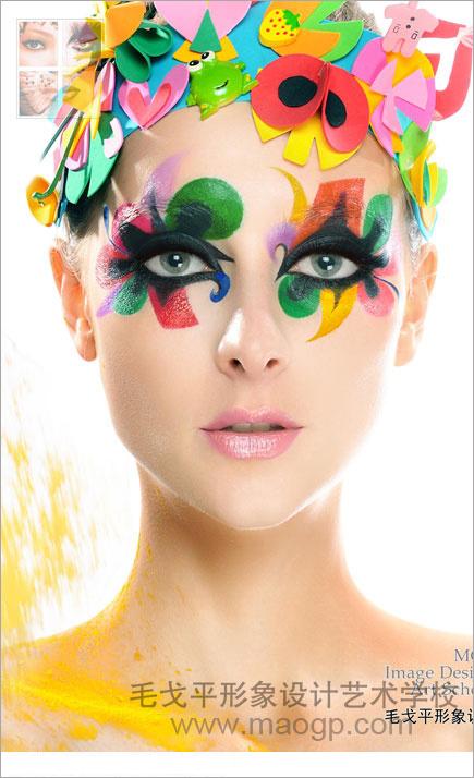 2014大胆夸张的彩妆造型组图欣赏图片