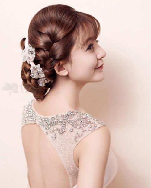 新娘编发发型欣赏 做个法派新娘(一)