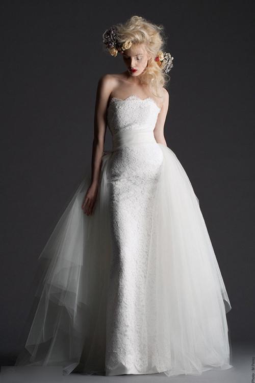 法式新娘婚纱-法式优雅浪漫白纱 塑造温婉新娘