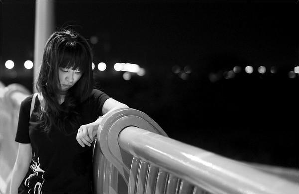 夜景人像摄影作品