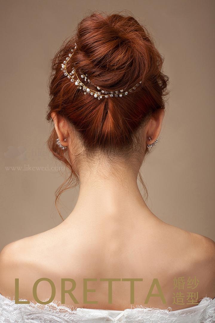 三款气质新娘盘发 尽显独特魅力图片
