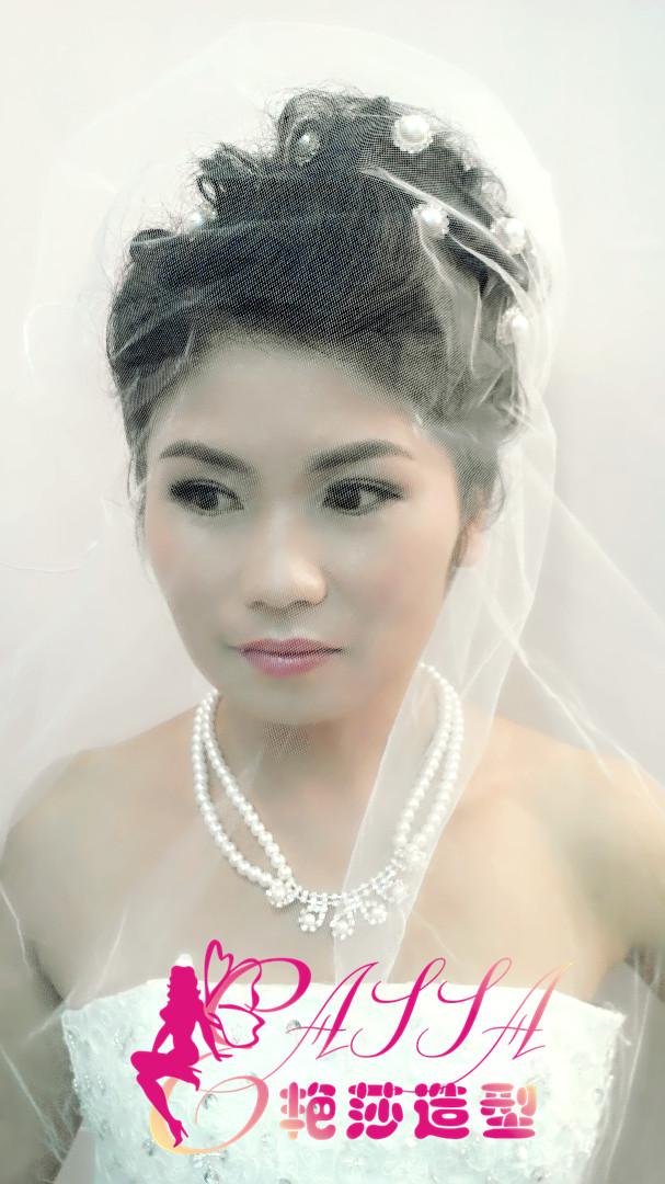 短发新娘妆图片