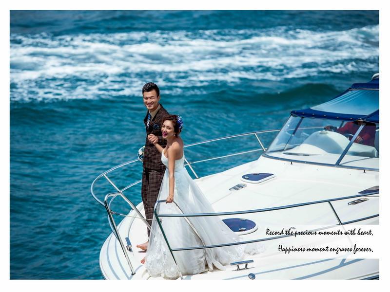 青岛蜜月度假婚纱摄影 b&l游艇出海拍摄主题
