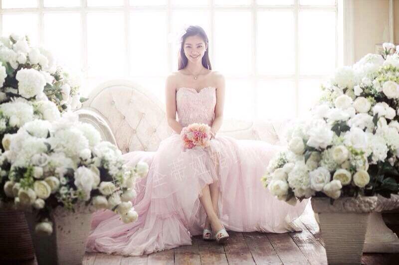 小清新风格婚纱照流行南京