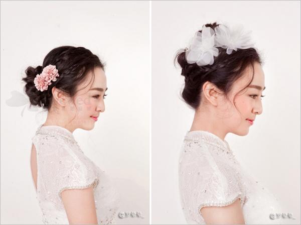 韩式新娘盘发造型 凸显少女气质