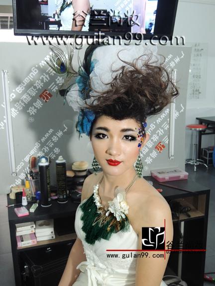 谷兰舞台妆容造型上课实拍_发型设计