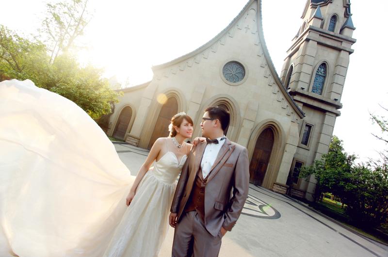 【鱼摄影】成都摄影工作室作品 南湖婚纱照客片