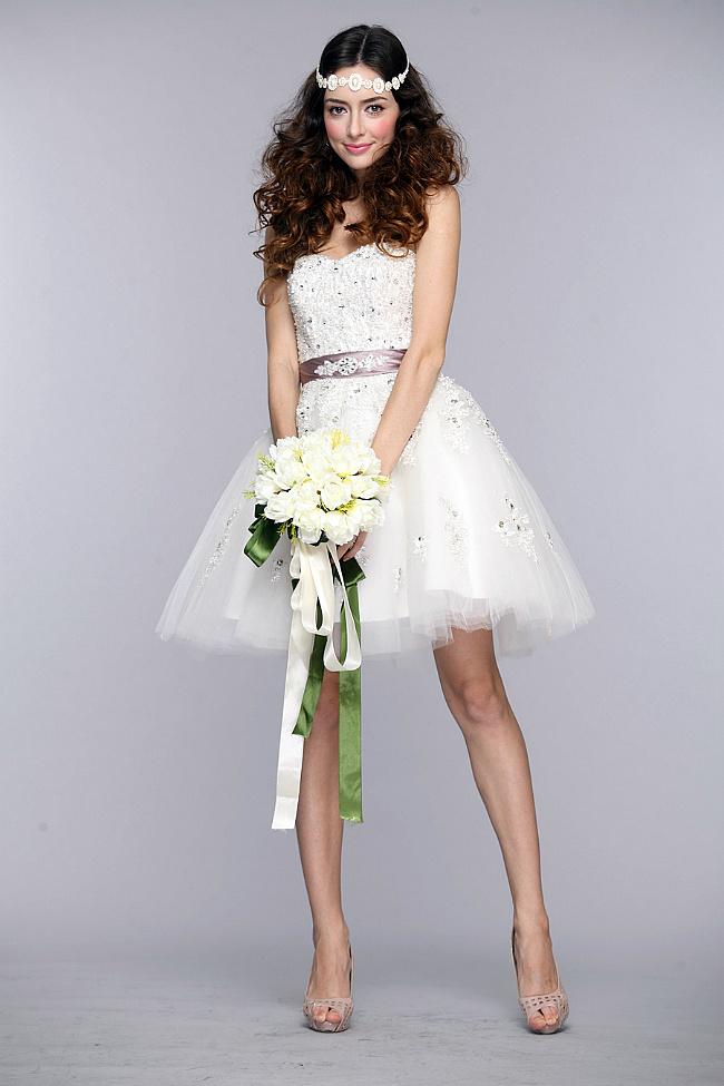 新娘婚纱-蓬蓬裙新娘礼服 仿若人间的精灵