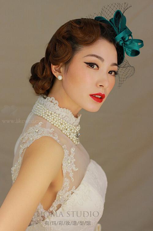 新娘发型到展现风情万种的复古气质