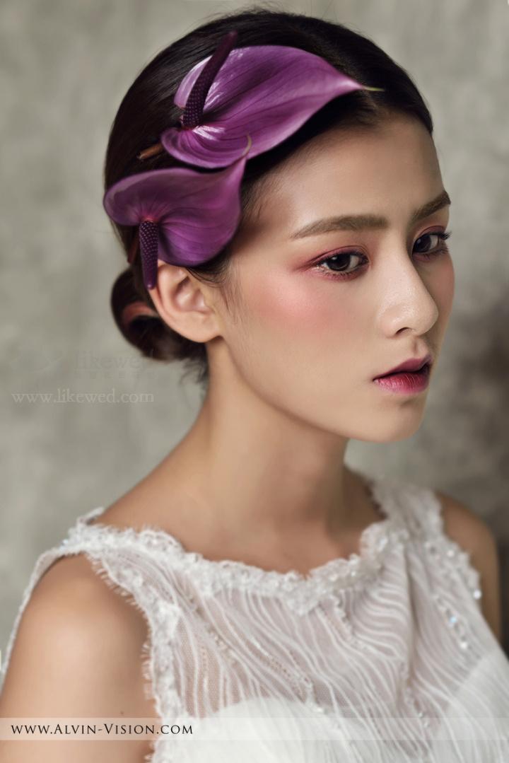简约鲜花新娘妆造型组图欣赏_黑光网摄影_新浪博客图片