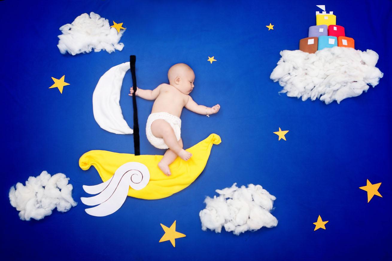 婴儿百天手绘板