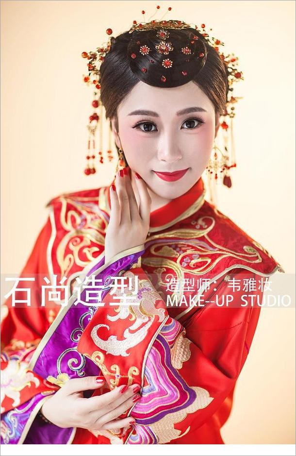 中式红装新娘造型组图欣赏