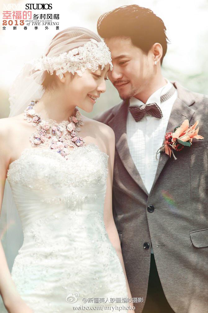 欧式婚纱照图片女生一人