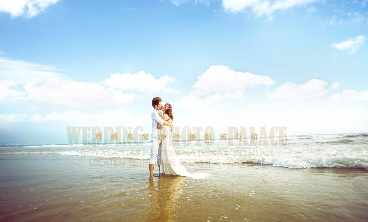海边外景婚纱照浪漫小清新