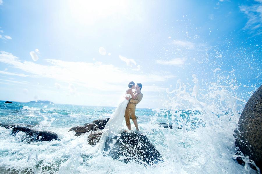 海边浪漫 —— 三亚苏棠个性婚纱摄影欣赏