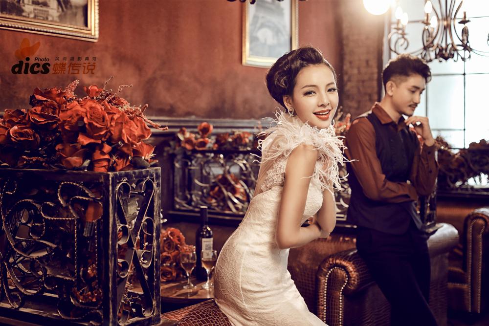 【蝶传说摄影】欧式复古婚纱照——品味幸福
