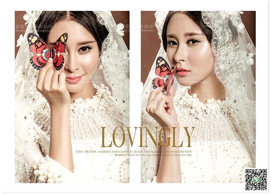 韩式室内创意婚纱照