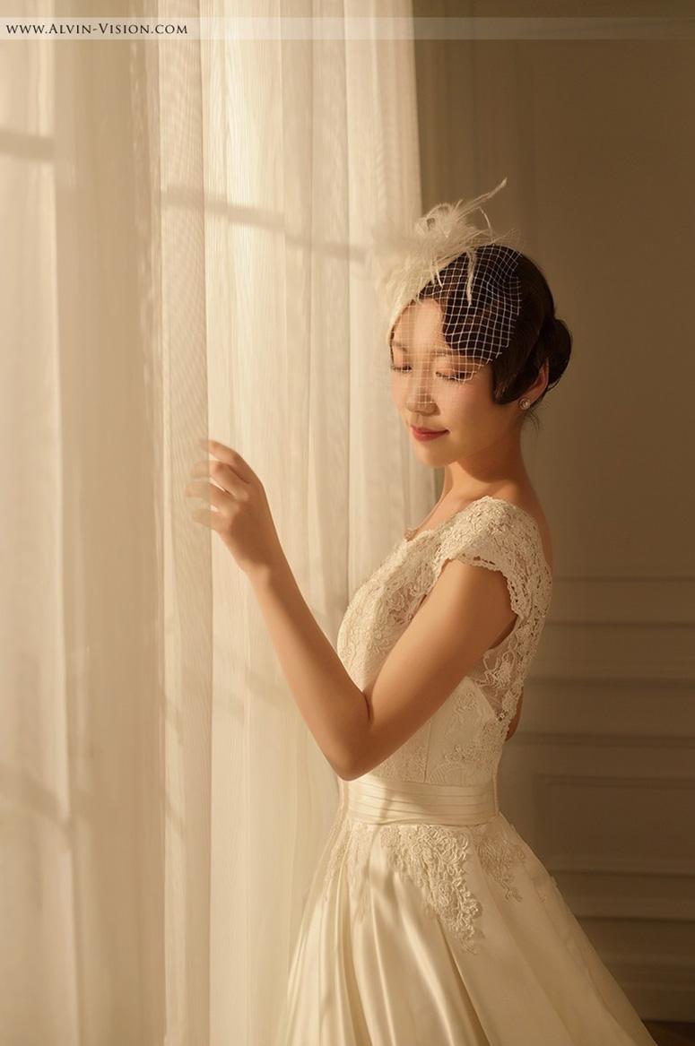 短发新娘化妆造型 为你量身定制的美丽图片