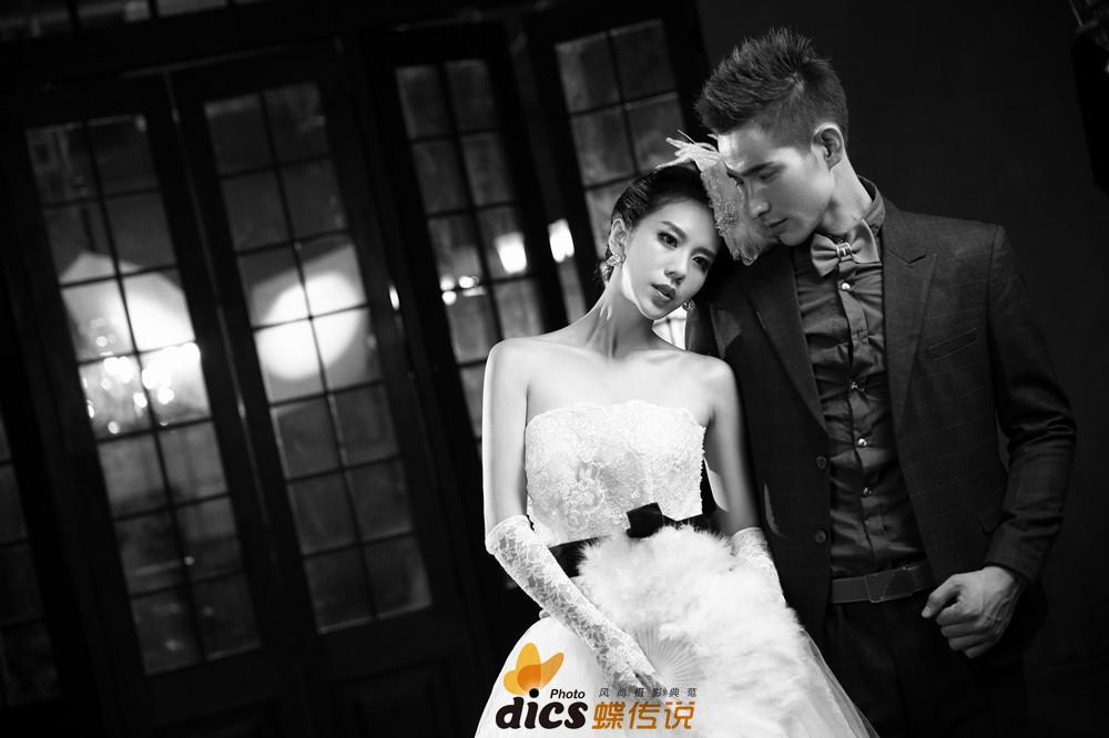 重庆蝶传说摄影欧式复古婚纱照——粉黛佳人