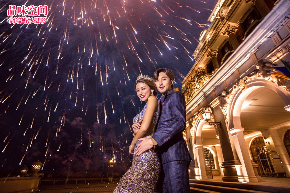 北京十佳婚纱摄影工作室【品味空间】夜景婚纱照欣赏