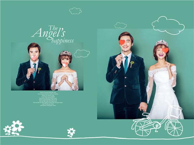 创意韩式婚纱照欣赏图片