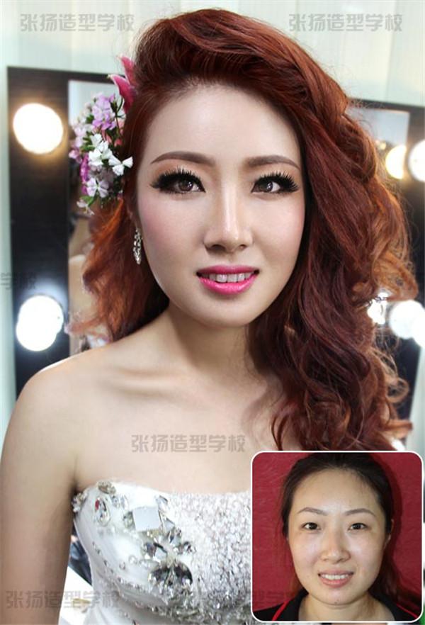时尚甜美新娘妆化妆造型,张扬造型现场秀