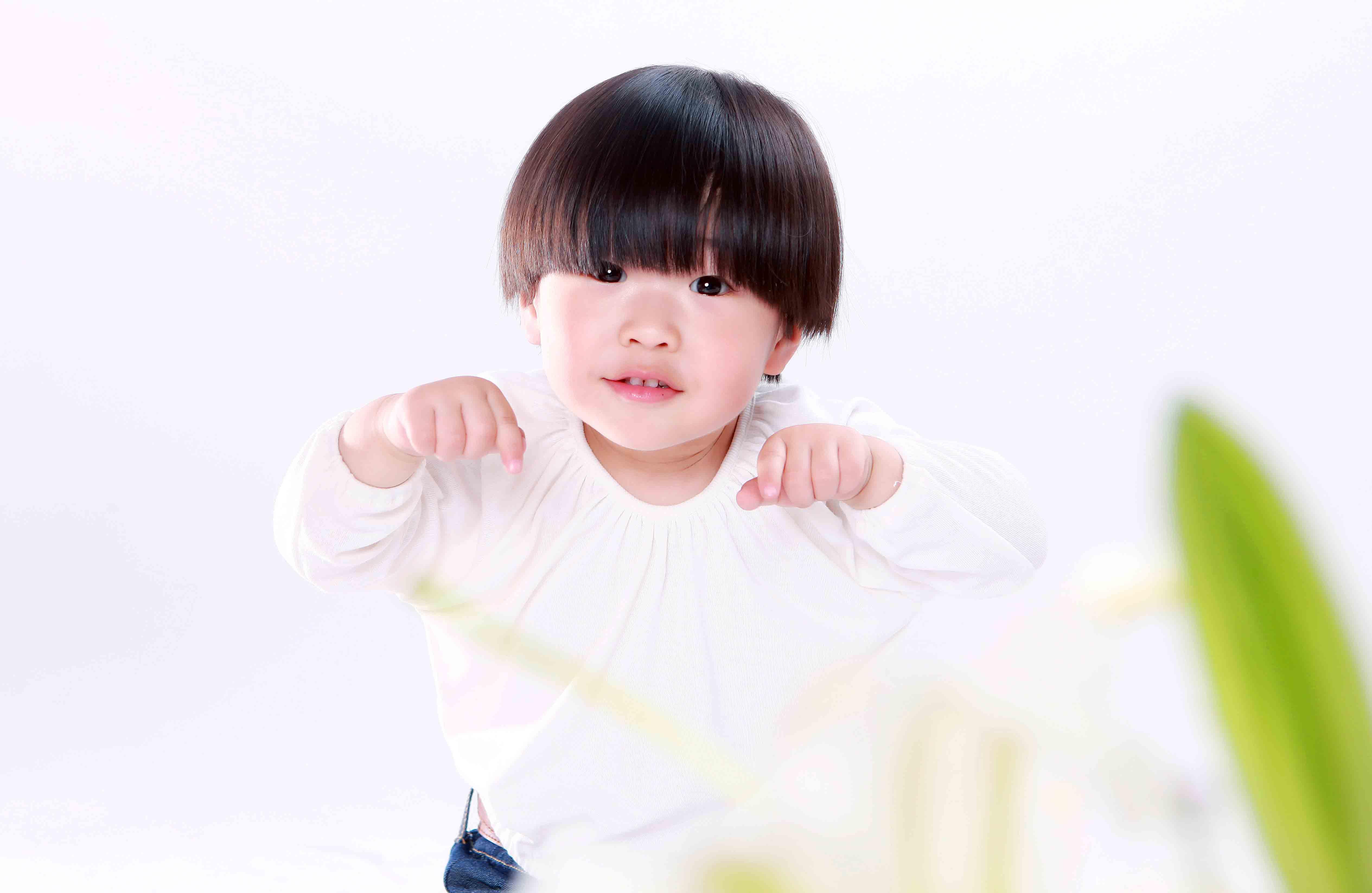 百合花与小女孩