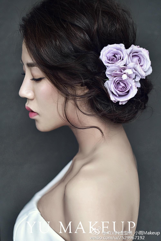 浪漫新娘鲜花造型欣赏